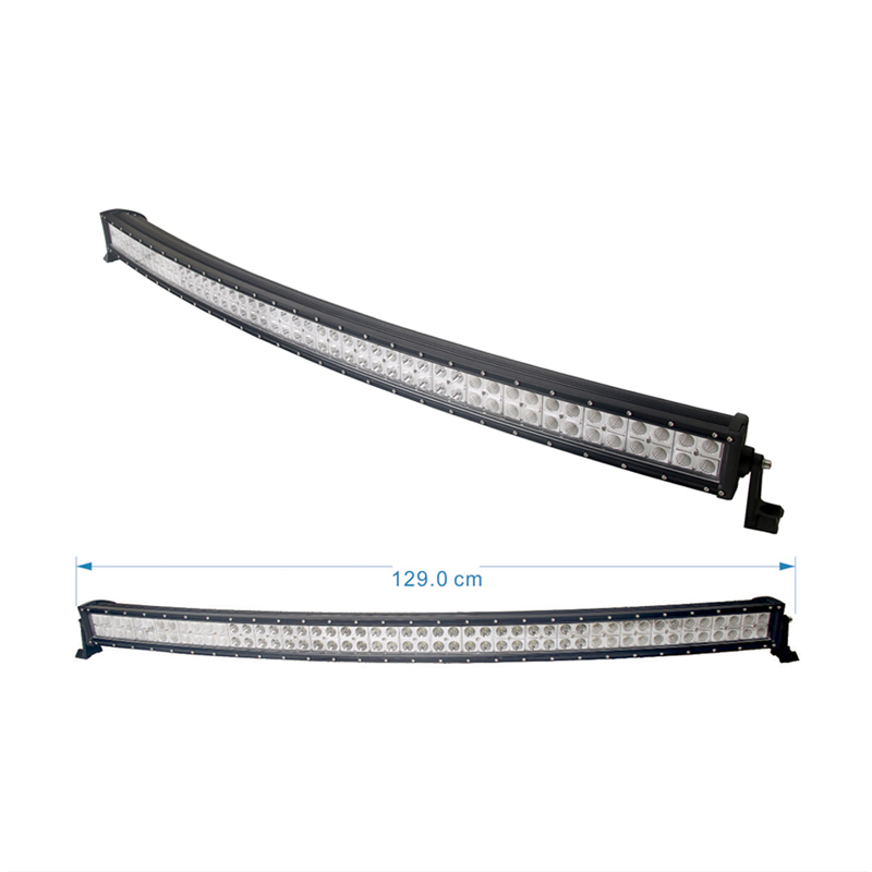 288W curved led light bar police power draw placement