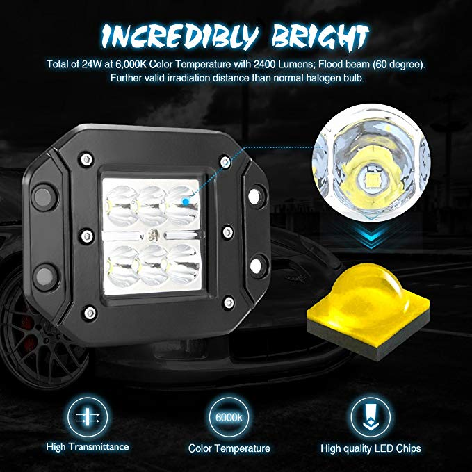 offroad 12w 18w led wok light