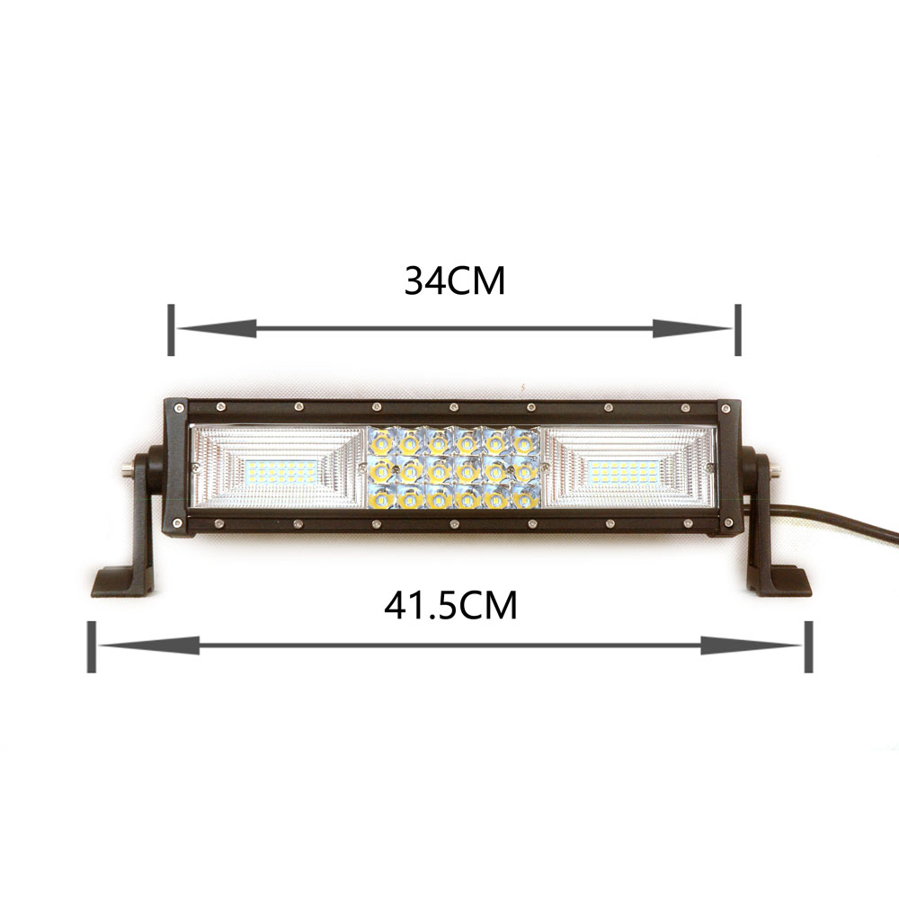 foshan supply180W 3 triple row small led light bar stage with switch panel