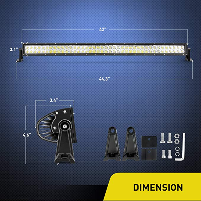 240w 42inch 24 volt curved led light bar car