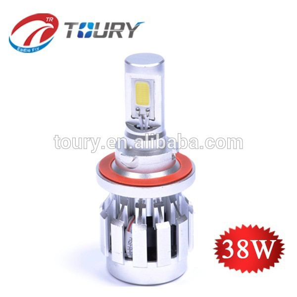 LED headlight globe , 38w led head light 9007