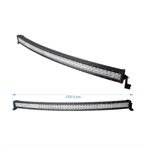 288W curved lled light bar podsplug in polaris ranger