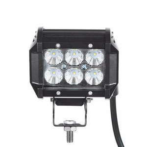18w dual row 12volt24v shaped led light bar