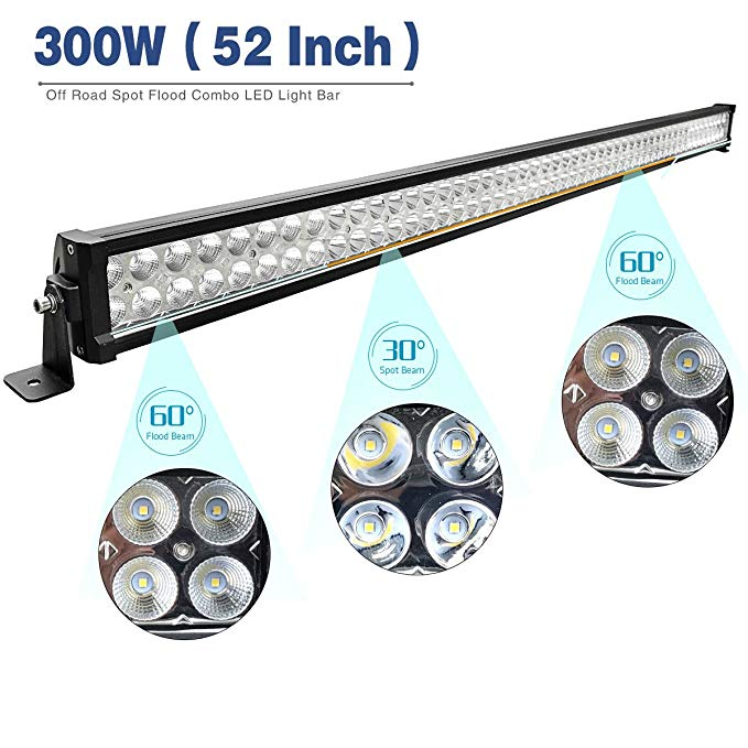 "offroad 300w 52"" 52 inch led light bar"